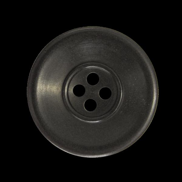 Großer Steinnuss Knopf, Schwarz Braun mit vier Knopflöchern