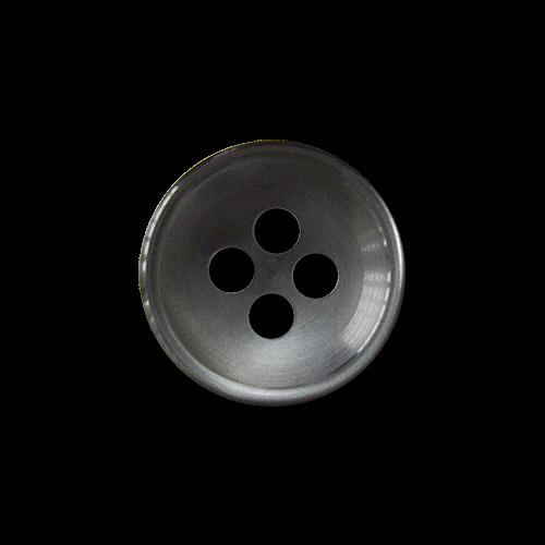 www.knopfparadies.de - 1570gr - Günstige blusenknöpfe / Hemdenknöpfe in grau schimmernd
