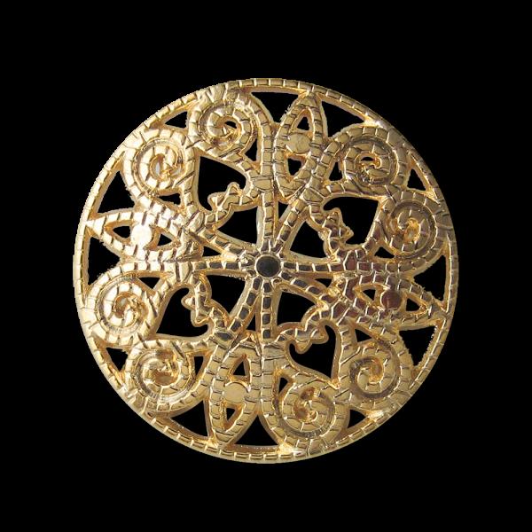 Faszierender Metall Knopf mit filigranem Durchbruch