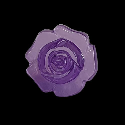 Hübsche lila transparente Kunststoffknöpfe in Rosenform