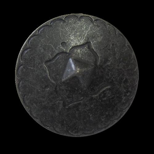 www.knopfparadies.de - 5919ei - Eisenfarbene Metallknöpfe in historischem Design