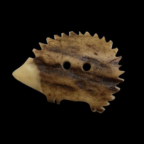Knöpfe Klassisch 20 mm Unikate Dunkelbraun 6 Hirschhorn