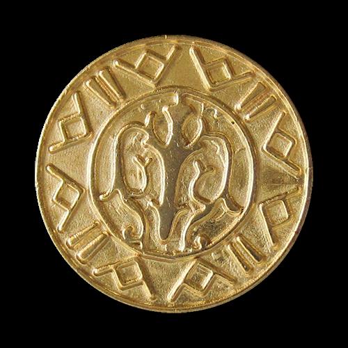 www.Knopfparadies.de - 0420go - Antik wirkende Metallknöpfe in Gold