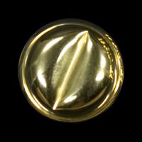 Außergewöhnlicher goldfarbener Ösenknopf