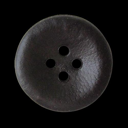 www.Knopfparadies.de - 3762db - Braune Vierlochknöpfe aus Kunststoff wie Lederknöpfe