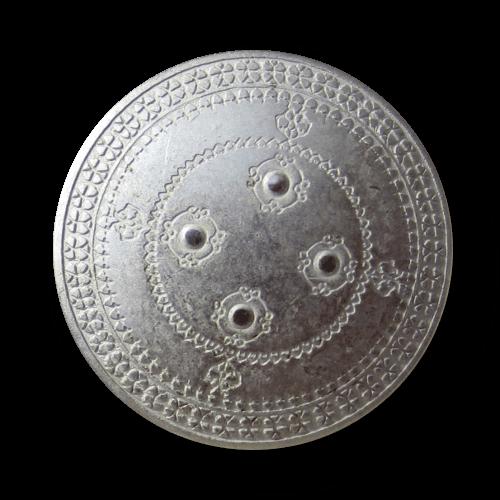 Historischer wirkender Metall Knopf wie Kämpfer Schild