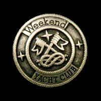 Matt altsilberfarbene Knöpfe Yachtclub