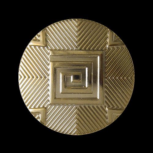 Besondere goldfarbene Ösen Metallknöpfe mit graphischem Muster