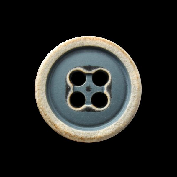 Hübscher Ethnoknopf im Vierlochdesign B-WARE