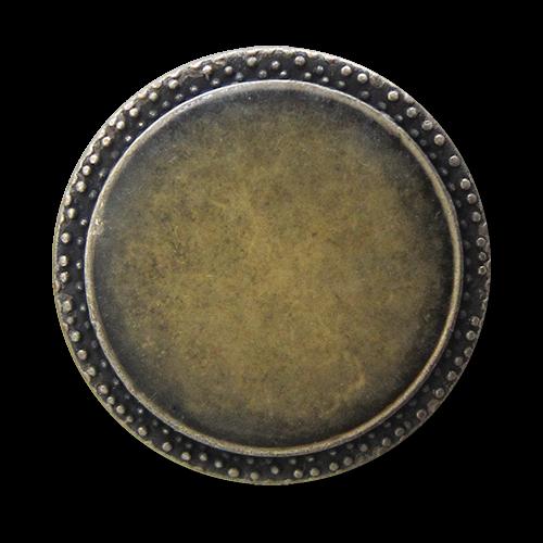 www.Knopfparadies.de - 1569sh - Günstigere altsilberfarbene Metallknöpfe mit milchigem Überzug