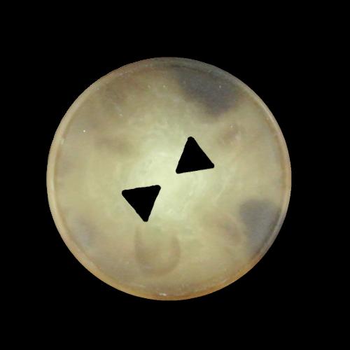 Knopf in Horn Optik mit dreieckigen Knopflöchern