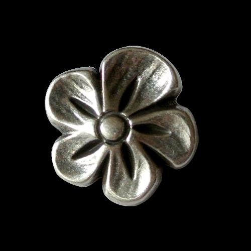www.knopfparadies.de - 1246as - Hübsche Metallknöpfe / Blütenknöpfe