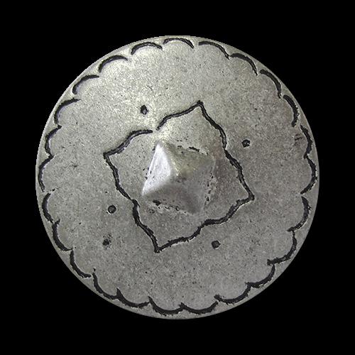 www.knopfparadies.de - 5919zn - Mittelalterlich wirkende Metallknöpfe in altsilber