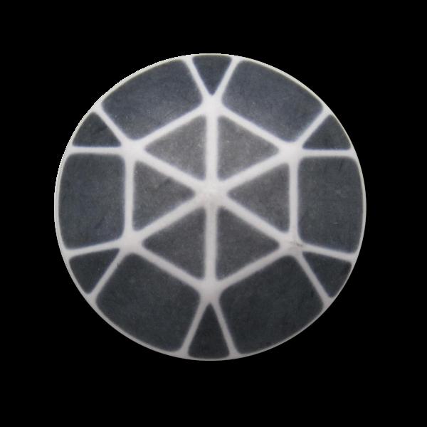 Grau-weiße, ausgefallene Mantelknöpfe