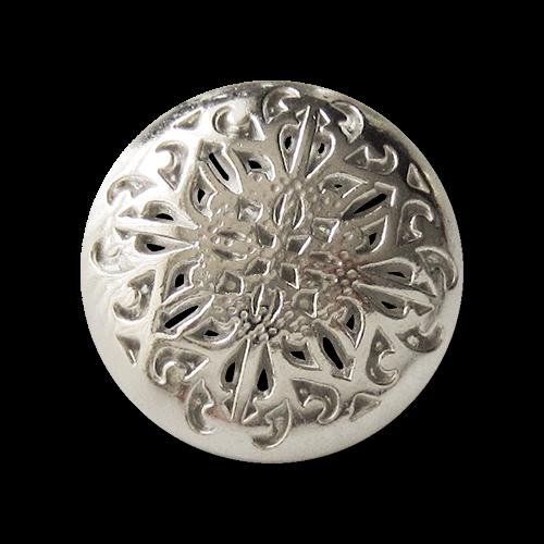 Umwerfend schöne Metallknöpfe mit filigranem Durchbruchmuster in silber