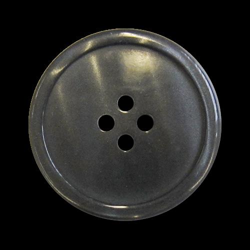 www.knopfparadies.de - 5984an - Dunkelgrau schimmernde Kunststoffknöpfe