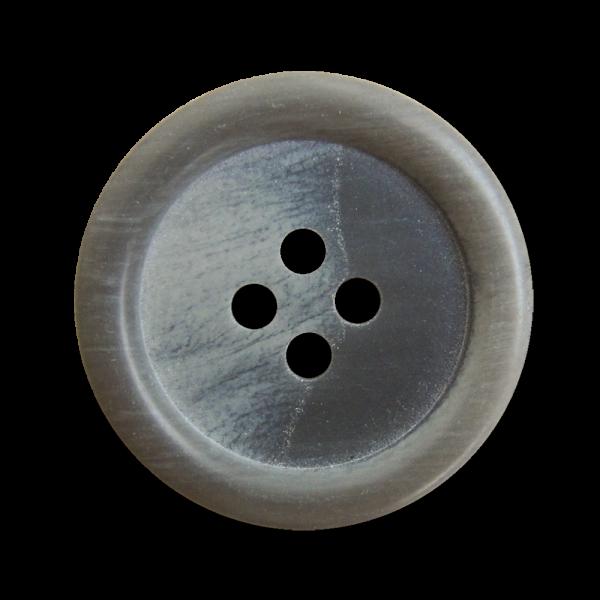 Schlichter Knopf, grau meliert