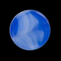 Packung: 10 stahlblaue Glasperlen
