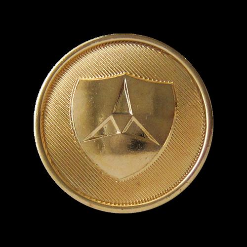 www.knopfparadies.de - 1342go - Günstigere goldene Wappenknöpfe in Metall Optik