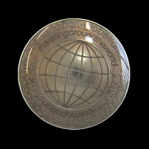 www.knopfparadies.de - 3121kg - Braun-silberne Blazerknöpfe aus Metall