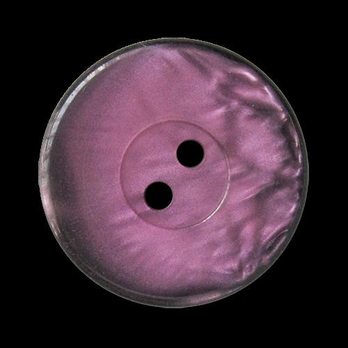 www.knopfparadies.de - 3334fs - Lila.schwarz gefärbte Kunststoffknöpfe mit zwei Löchern