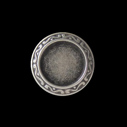 Günstigere kleine altsilberfarbene Metall Ösen Knöpfe / B-WARE