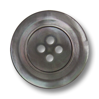 5 silber grau melierte Wende Kunststoffknöpfe in edler Perlmutt Optik 2519gr