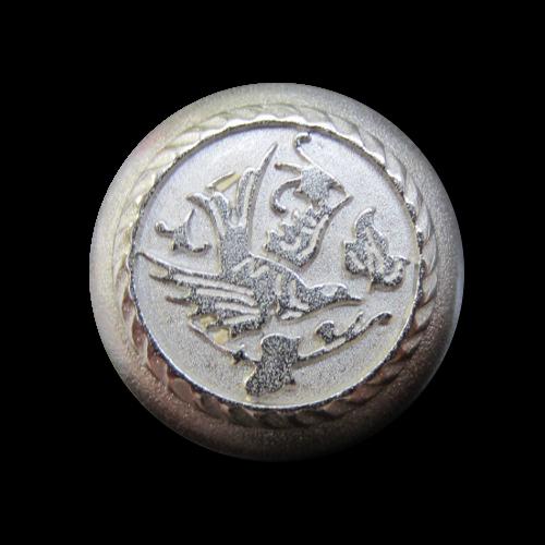 Romantischer Metallknopf mit Vogel-Motiv