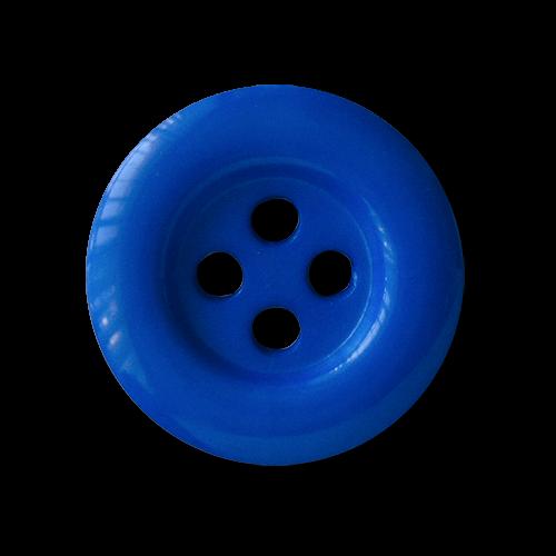 www.knopfparadies.de - 1685bl - Günstige, kobaltblaue Kunststoffknöpfe