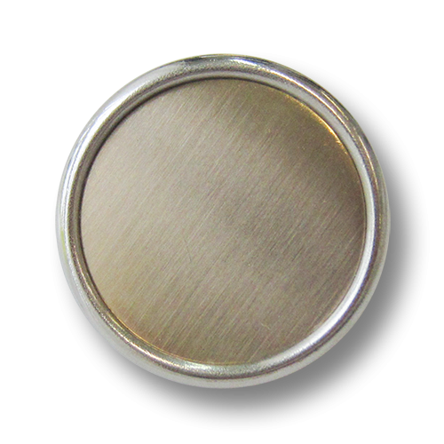www.knopfparadies.de - 3245sm - Günstige B-WARE Knöpfe, sehr leicht in bicolor: silber und messing