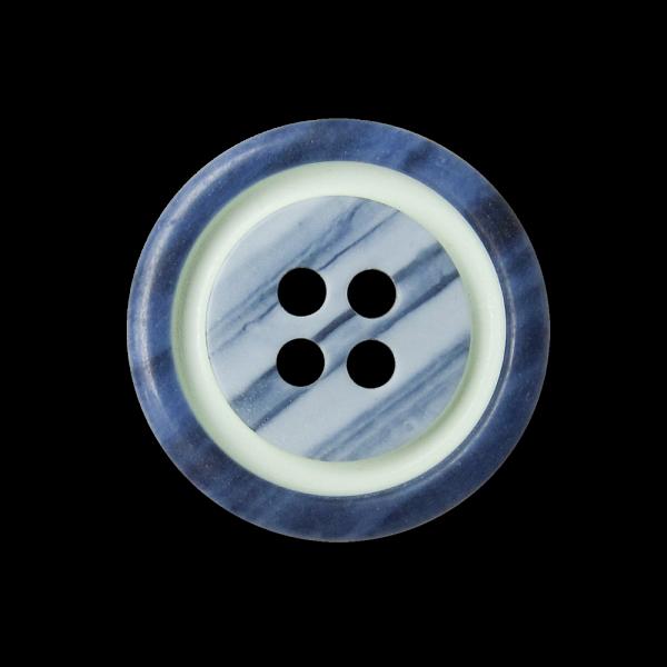 Kreativer blau grüner Vierloch Kunststoff Knopf