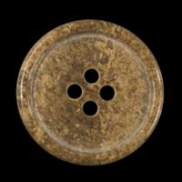 Schlichte Kunststoffknöpfe braun gemasert (12 Stck)