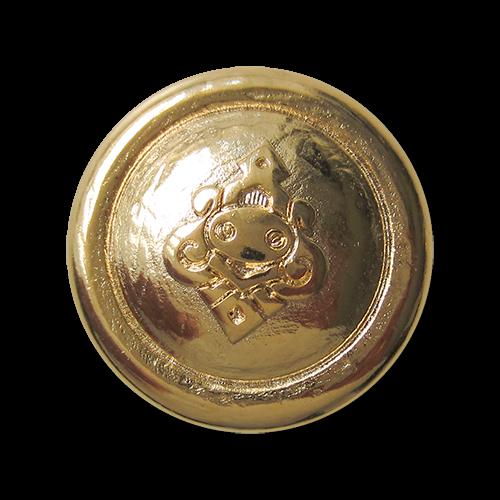 Metall Ösen Knopf in Goldfarben mit Ornament Motiv