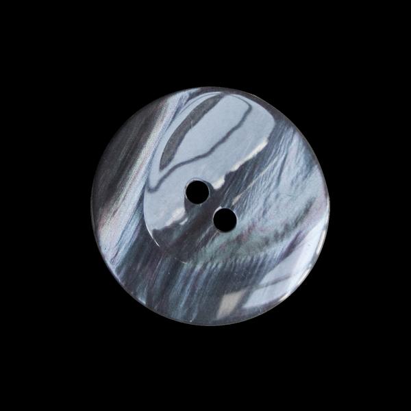 Grau-blauer Knopf in Perlmuttoptik