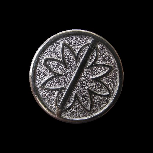 Moderner chrom-eisenfb. Metall Knopf mit Blumen Motiv