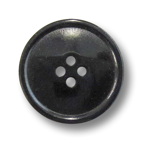 www.knopfparadies.de - 4278sc - Schwarze Kunststoffknöpfe mit vier Löchern - perfekt als Mantelknöpfe