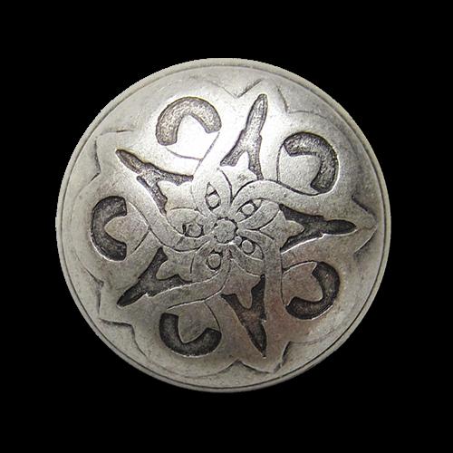 www.knopfparadies.de - 0463sm - Altsilberfarbene Trachtenknöpfe aus Metall