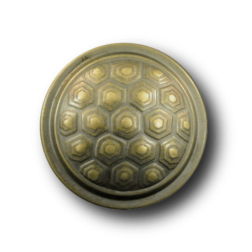 Knopf aus Metallblech wie aus dem Mittelalter