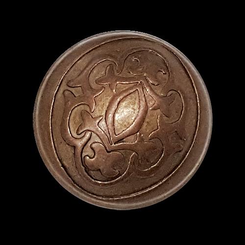 Gewölbter Metallknopf in edlem Design