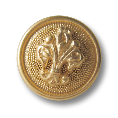 Metallknopf in Goldfarben mit Florentiner Lilie