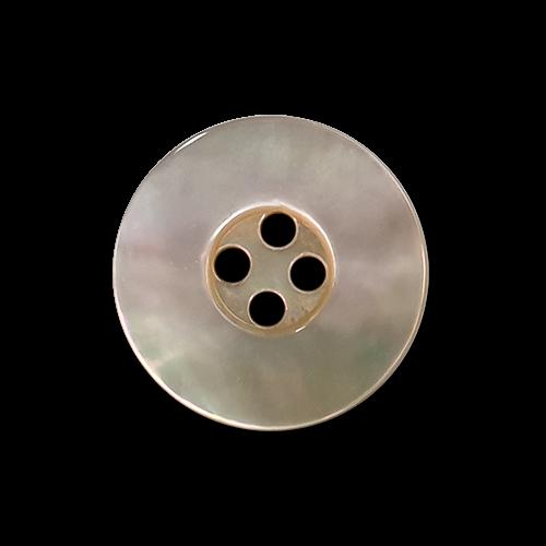 www.knopfparadies.de - k565nb - Schillernde Perlmuttknöpfe mit vier Löchern und breitem Rand