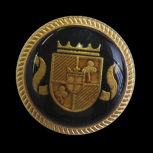 Schwarz-goldfarbener Blazerknopf