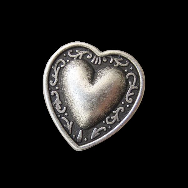 Niedlicher Herz Knopf aus Metall