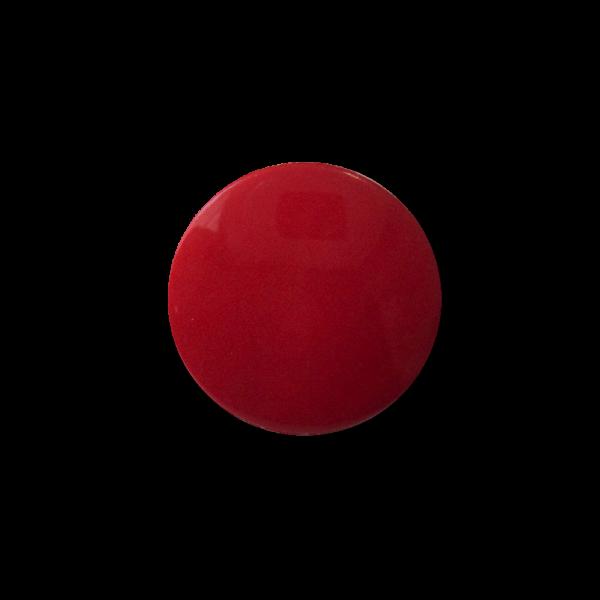 Schlichter roter Blusenknopf