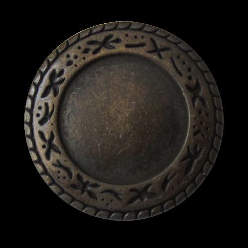www.Knopfparadies.de - 3553am - Hübsche Metallknöpfe mit Ethno Muster