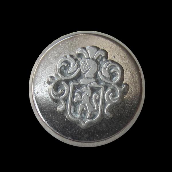 Günstiger Wappen Metallknopf in Vintage Optik / B-WARE