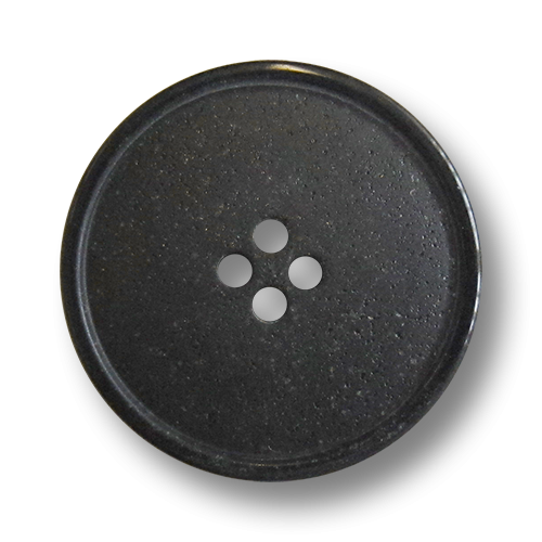 www.knopfparadies.de - 5985sc - Schwarze Kunststoffknöpfe mit vier Löchern
