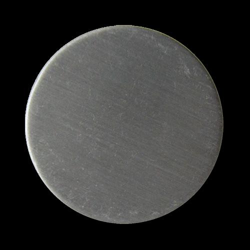 www.Knopfparadies.de - 4060sm - Silber gebürstete Ösen Metallknöpfe