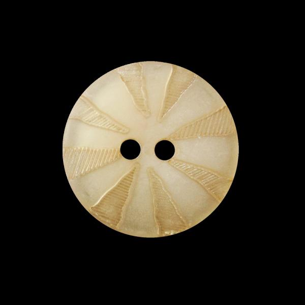 Beige-goldfb. perlmuttartiger Knopf mit Strahlenkranz