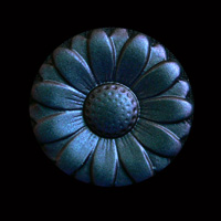 Blütenknöpfe blau-lila-metallic